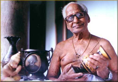 Shri C.M. Neelakandan Namboodiripad with his works