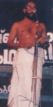 Kalamandalam Surendran during performance