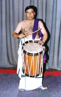 Kalamandalam Unnikrishnan on a performance in chenda
