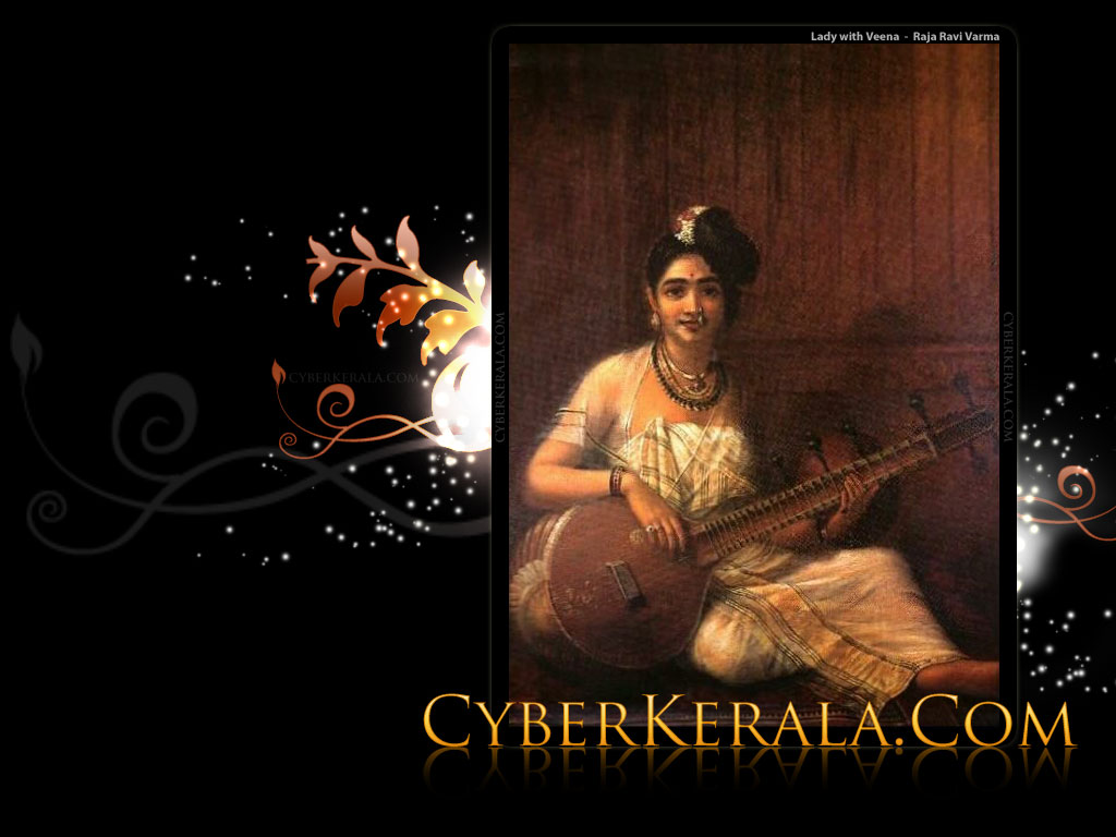 Wallpaper - Lady with Veena